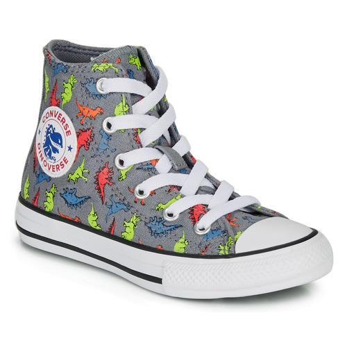 Shoes Boy Hi top trainers Converse CHUCK TAYLOR ALL STAR DINOVERSE HI Grey