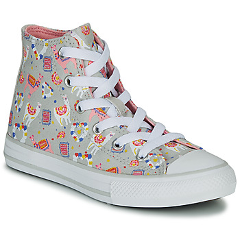 Shoes Girl Hi top trainers Converse CHUCK TAYLOR ALL STAR LLAMA HI Grey / Multicoloured