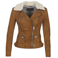 Clothing Women Leather jackets / Imitation leather Oakwood PROJECTION Brown