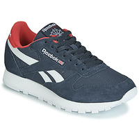 Shoes Low top trainers Reebok Classic CL LEATHER MU Marine / Red