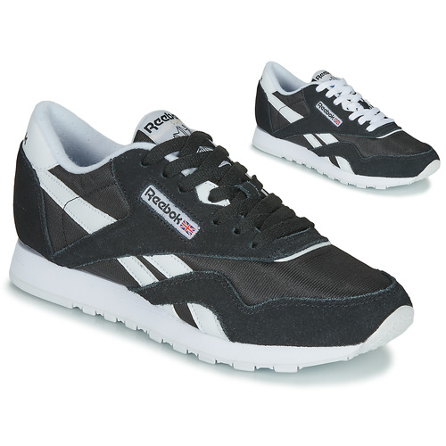 Shoes Women Low top trainers Reebok Classic CL NYLON Black / White