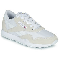 Shoes Children Low top trainers Reebok Classic CL NYLON J White / Beige