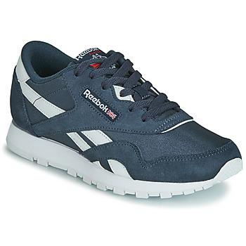 Shoes Children Low top trainers Reebok Classic CL NYLON J Marine / White