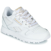 Shoes Girl Low top trainers Reebok Classic CLASSIC LEATHER C White / Glitter