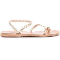 Shoes Women Sandals Ancient Greek Sandals Eleftheria platinum leather sandal. Gold