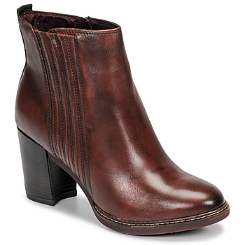 Shoes Women Ankle boots Tamaris JOLY Cognac