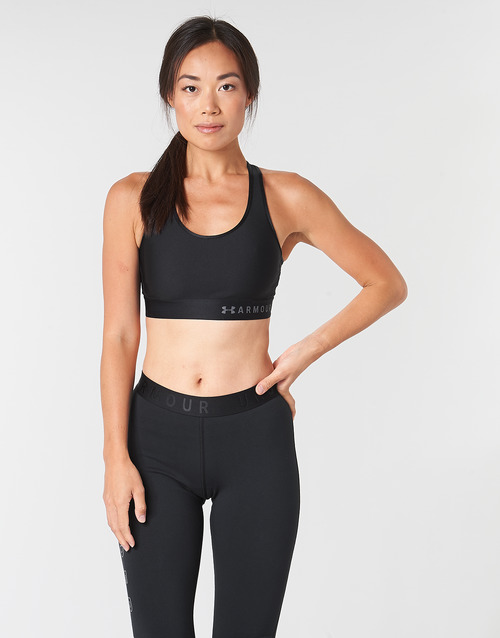 Clothing Women Sport bras Under Armour ARMOUR MID KEYHOLE BRA Black