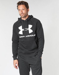 Clothing Men sweaters Under Armour RIVAL FLEECE SPORTSTYLE LOGO HOODIE Black