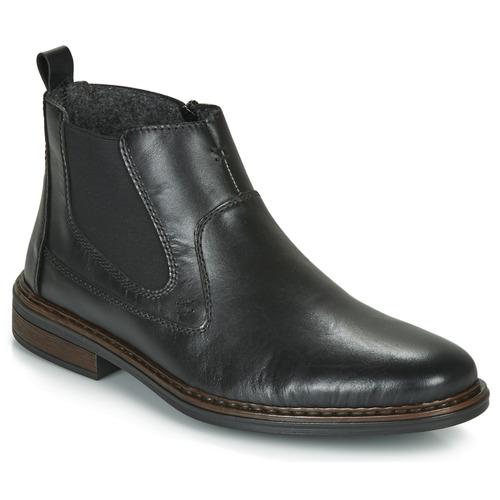 Shoes Men Mid boots Rieker DANE Black