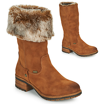 Shoes Women High boots Rieker 96854-26 Camel