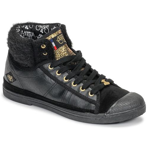 Shoes Women Hi top trainers Le Temps des Cerises BASIC 03 Black
