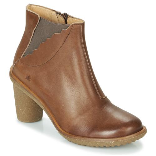 Shoes Women Ankle boots El Naturalista TRIVIA Brown