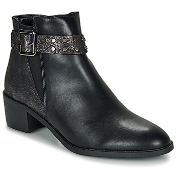 Shoes Women Mid boots Moony Mood FLOURETTE Black