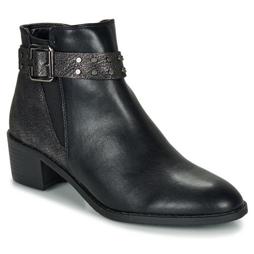 Shoes Women Mid boots Moony Mood FLOURETTE Black