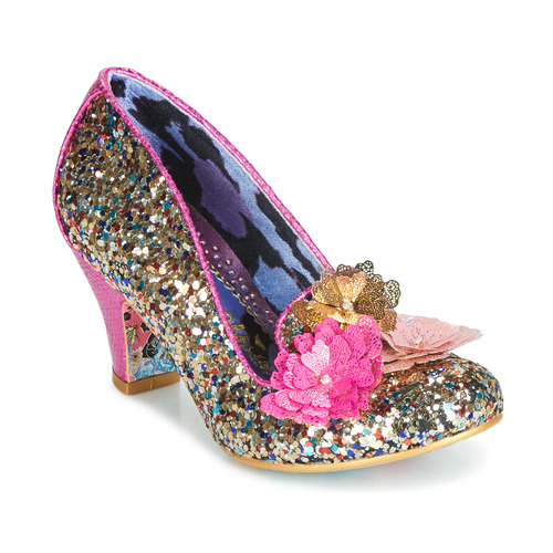 Shoes Women Heels Irregular Choice CARIAD Pink / Gold