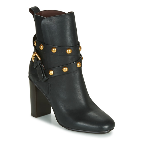 Shoes Women Ankle boots See by Chloé NEO JANIS Black