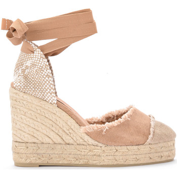 Shoes Women Sandals Castaner Catalina canvas and natural jute wedge sandal. Neutral