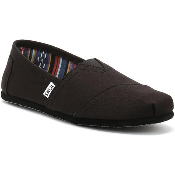 Toms  Womens All Black Canvas Classic Espadrilles  womens Slipons (Shoes) in black