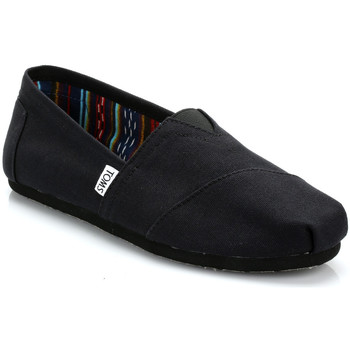 Shoes Men Slip ons Toms Mens All Black Canvas Classic Espadrilles Black