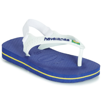 Shoes Children Sandals Havaianas BABY BRASIL LOGO Marine