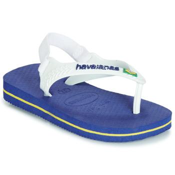 Shoes Boy Flip flops Havaianas BABY BRASIL LOGO Marine