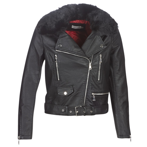 Clothing Women Leather jackets / Imitation leather Molly Bracken HA006A21 Black