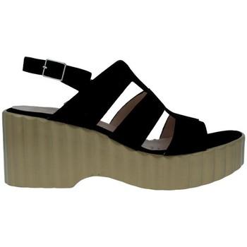 Shoes Women Sandals Wonders F-6705 Sandalias Con Plataforma de Mujer black
