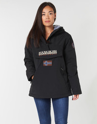 Clothing Women Parkas Napapijri RAINFOREST POCKET Black