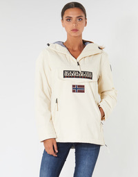 Clothing Women Parkas Napapijri RAINFOREST POCKET White