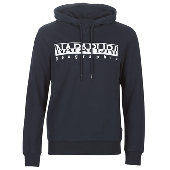 Clothing Men sweaters Napapijri BERBER HOODIE Marine