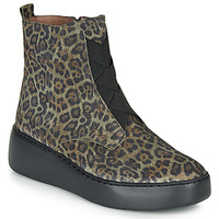 Shoes Women Mid boots Wonders A8332-SERVAL-GREEN Green