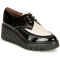 Shoes Women Derby Shoes Wonders E6204-LACK-NEGRO-MILK Black / White
