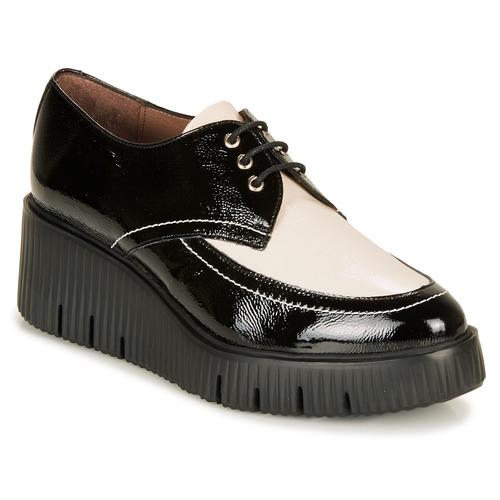 Shoes Women Derby Shoes Wonders E6204-LACK-NEGRO-MILK Black / White