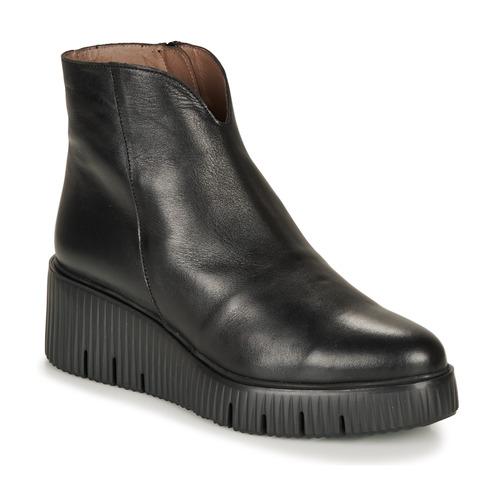 Shoes Women Mid boots Wonders E6210-VELVET-NEGRO Black