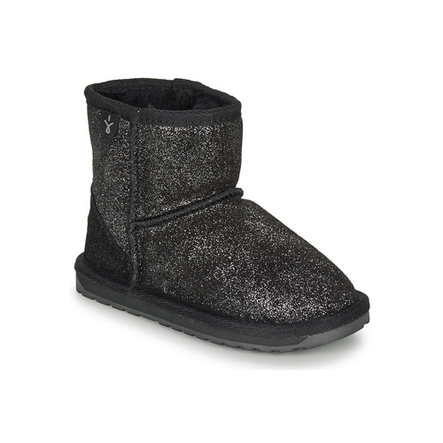 Shoes Girl Mid boots EMU WALLABY MINI METALIC Black