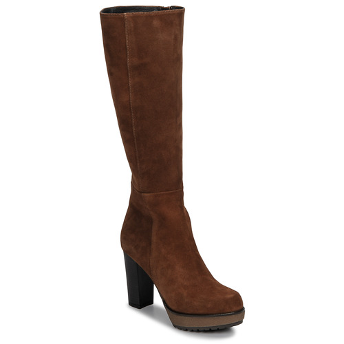 Shoes Women High boots Sweet Lemon SICORA Cognac
