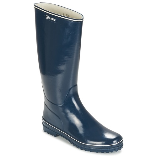 Shoes Women Wellington boots Aigle VENISE Marine / White