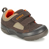 Shoes Boy Low top trainers Crocs DAWSON HOOK & LOOP Brown