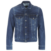 Clothing Men Denim jackets Pepe jeans PINNER Grey