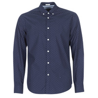 Clothing Men Long-sleeved shirts Pepe jeans DAVON Marine
