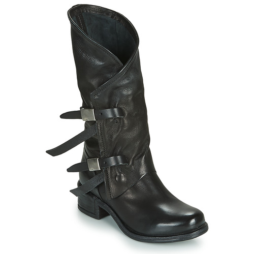 Shoes Women High boots Airstep / A.S.98 ISPERIA BUCKLE Black