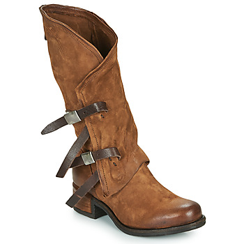 Shoes Women High boots Airstep / A.S.98 ISPERIA BUCKLE Brown