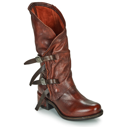 Shoes Women High boots Airstep / A.S.98 ISPERIA BUCKLE Red