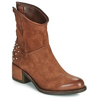 Shoes Women Mid boots Airstep / A.S.98 OPEA STUDS Camel