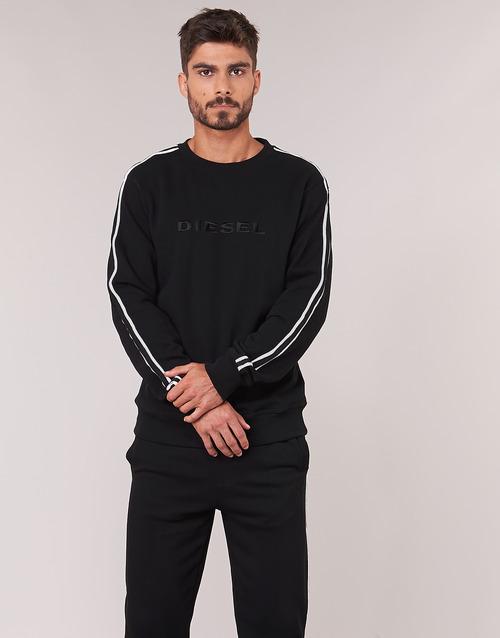Clothing Men sweaters Diesel WILLY Black