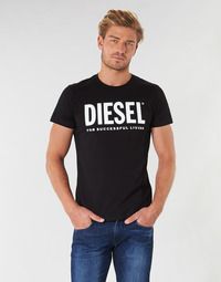 Clothing Men Short-sleeved t-shirts Diesel T DIEGO LOGO Black