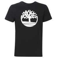 Clothing Men short-sleeved t-shirts Timberland SS Brand Reg Tee BLACK Black
