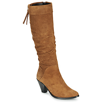 Shoes Women High boots Regard RAKAFOU V2 CRTE VEL SILKY Camel