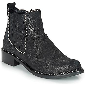 Shoes Women Mid boots Regard ROAL V1 CROSTE SERPENTE PRETO Black