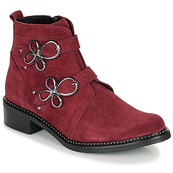 Shoes Women Mid boots Regard ROAXAL V6 CRTE VEL SILKY Bordeaux